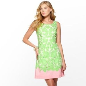 Lilly Pulitzer pink & green shift dress